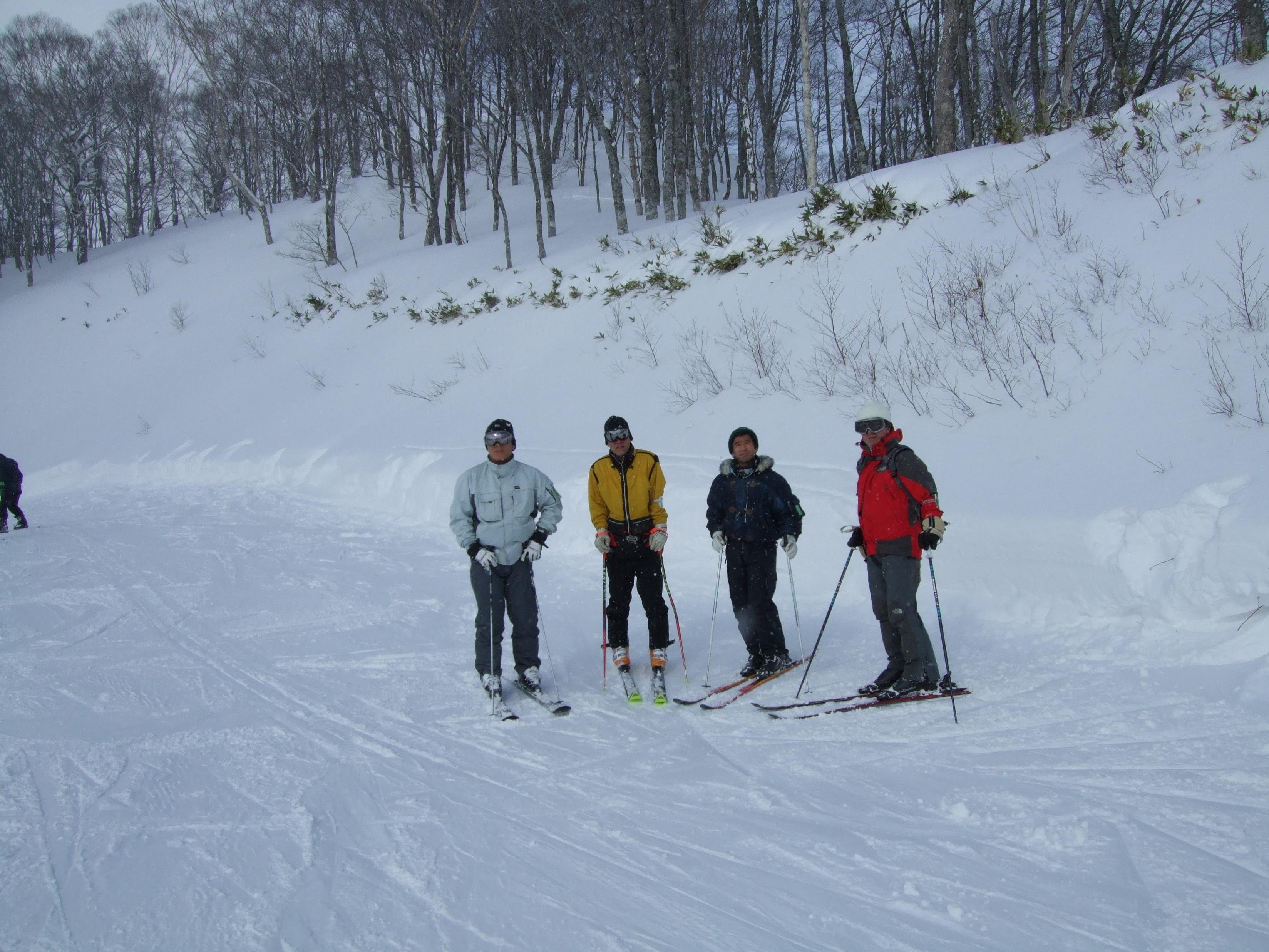 尾瀬岩鞍スキー場、クリックすると、ムービーが動きます。